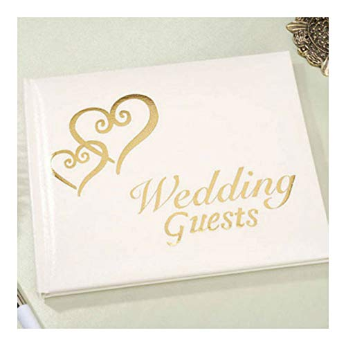 (Gold Interlocking Hearts Wedding GUESTBOOK Guest Book Registry)