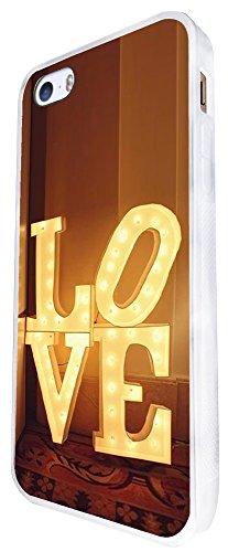 150 - Love Fun Word Design iphone SE - 2016 Coque Fashion Trend Case Coque Protection Cover plastique et métal - Blanc