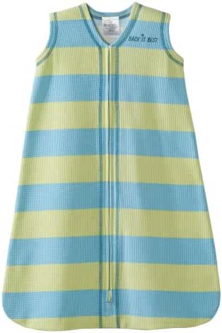 HALO SleepSack 100% Cotton Wearable Blanket, Green and Blue Stripe, Small (Discontinued by Manufacturer)