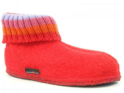 Haflinger Paul, Zapatillas de Casa, Infantil Rojo (Ziegelrot)