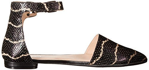 White Textured Osillyyou Flat Black Leather West Ballet Nine 6zYpwqS0x