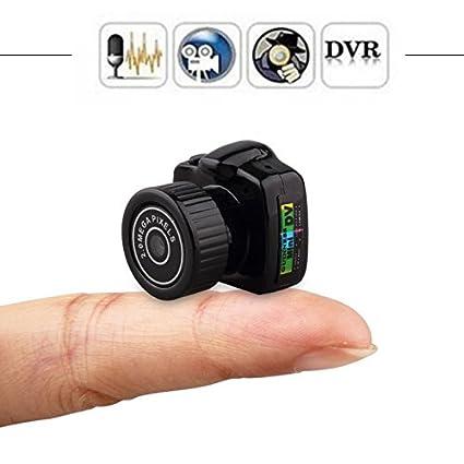 Amazon.com : Tiny Mini Camera hd Video Audio Recorder Webcam y2000 Camcorder Small dv dvr Security Secret Nanny car Sport Micro cam with mic : Camera & ...