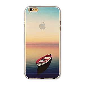 Iphone 6 Plus Case,floral Print Stunning Transparent Clear Slim TPU Skin Shell Cover for Apple Iphone 6+,beautiful Fashion Scenery Design Cases (Scenery Pattern Iphone 6 Plus 5.5 Inch) (Color 8)