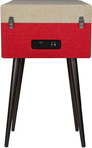Crosley CR6233D-RE Dansette Bermuda Portable Turntable with Aux-in and Bluetooth, Red by Crosley (Image #5)