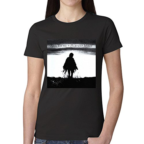Neil Young Harvest Moon T Shirts For Women (Panhandle Slim Rock)