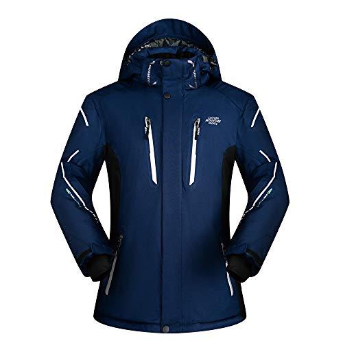 Dark Blue Outerwear Coat Outdoor Tops Men's Climbing Jacket Waterproof Ski Warm Hooded CFSvq