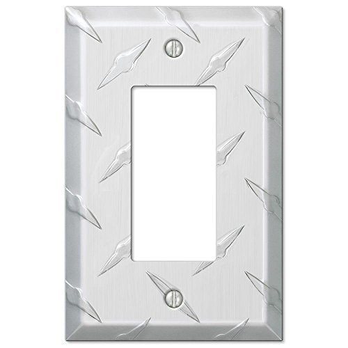 Diamond Cut 1 Rocker Wall Plate - Aluminum