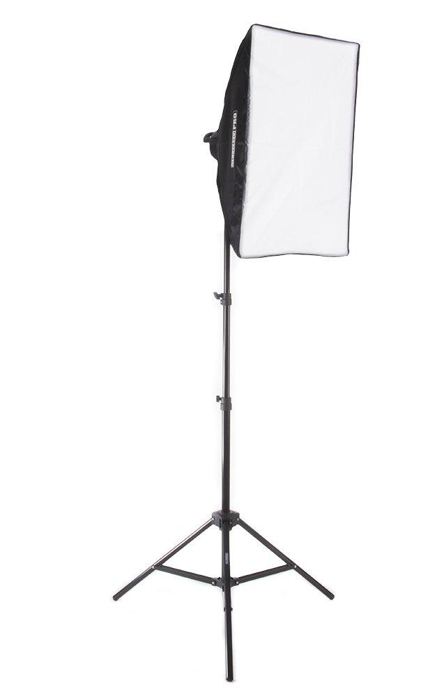 Fovitec StudioPRO 1600 Watt 24''x36'' Softbox Continuous Lighting Kit - Portrait Photography, Photo & Video Studio Essentials Includes Light Stand & 45W CFL Light Bulbs