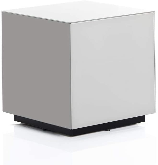 Amazon.com: SONOROUS STB-45 All Glass Cube Side Table/Night Stand: Home & Kitchen