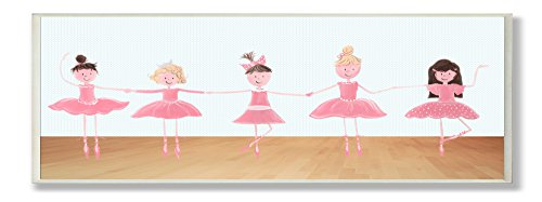 The Kids Room by Stupell Five Ballerinas Rectangle Wall Plaque by The Kids Room by Stupell