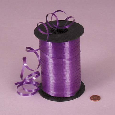 Purple Crimped Curling Ribbon, 3/16