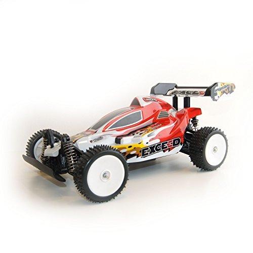 Digital Racing Scale (ALEKO 06080 4 Wheel Drive Electric Power RC Off Road Buggy, Red Car 1/10 Scale , Super Power, Digital Stop Function)
