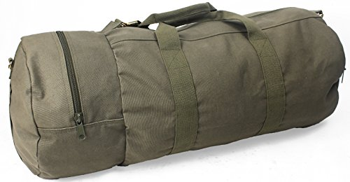 "Brown Canvas Double-Ender Sports Gym Duffle Bag 30/"" x 13/"""