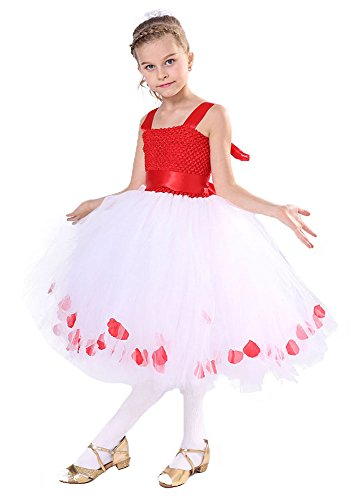 e0cd9b5e3 Tutu Dreams Red White Flower Girl Tutu Dress for Toddlers - Buy Online in  Oman. | tutu dreams Products in Oman - See Prices, Reviews and Free  Delivery in ...