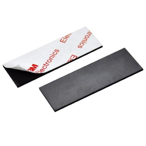 [해외]자석 시트 58 × 20mm 1.5 mm 두께의 양면 테이프 딸린 100 장 / Magnet Sheet 58 × 20mm 1.5 mm thick with double sided tape 100 sheets