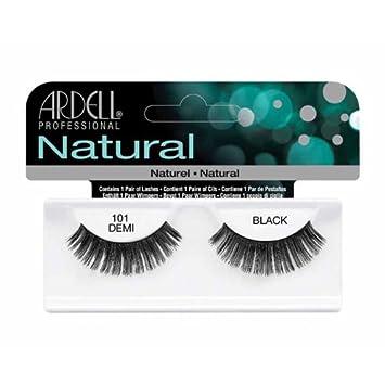 bb5fed8e457 Amazon.com : Ardell Fashion Lashes, 101 Demi Black, 1 Pair (Pack of 3) : Fake  Eyelashes And Adhesives : Beauty