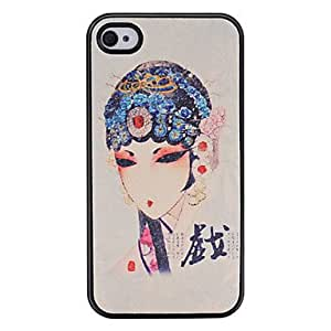 ZXSPACE Spotted Sweetlips Pattern Pasting Skin Plastic Case for iPhone 4 4S