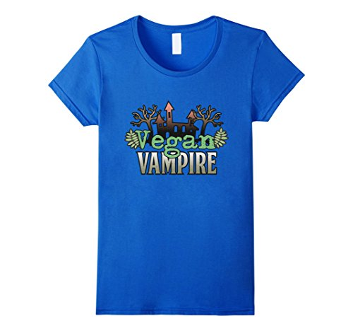 Vampire Weekend Halloween Costume (Womens Vegan Vampire Halloween costumes with spooky scary skeletons Small Royal Blue)