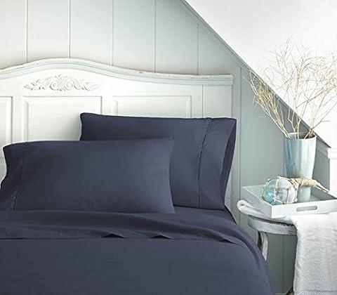 Bed Sheet Set by Becky Cameron Bedding - Deep Pocket Sheets - 1800 Series 4 Piece Set - Twin XL - - Blue Plush Mattress Set