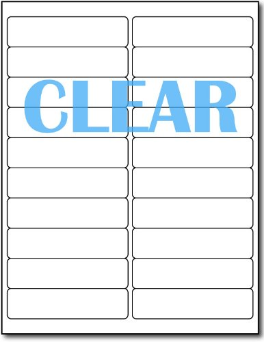 Crystal Clear Labels for LASER Printers - 4