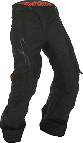 Mens Mx Motorcycle Boots - Fly Racing Men's Patrol Over Boot Pants (Black/Gray, Size 34)