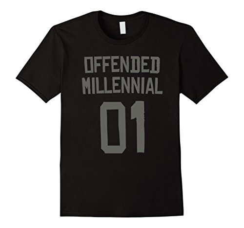 Last Minute Sports Halloween Costumes (Mens Offended Millennial 01 - Sports Halloween Costume Shirt 3XL Black)