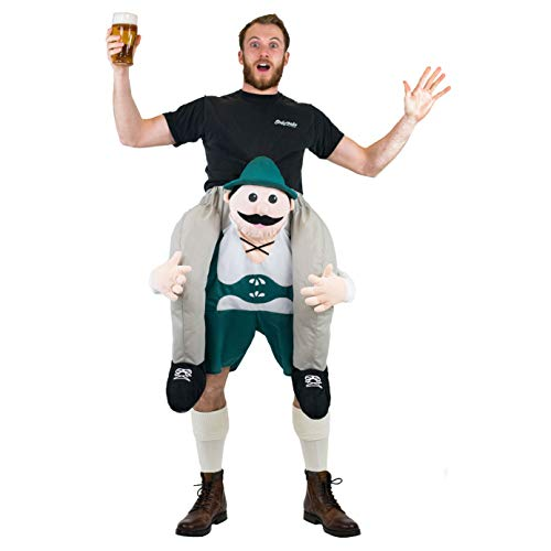 Bodysocks Adult Piggyback Lederhosen Carry On Fancy Dress Costume -