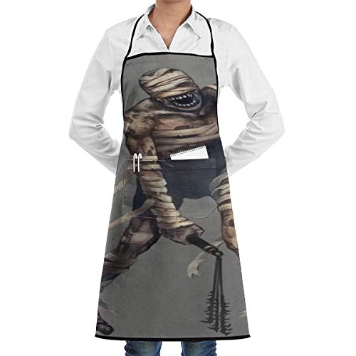 Lao Yang Mai Halloween Skeleton Mummy Zombie BBQ Waiter Housekeeper Pet Grooming Bartender Kitchen Beautician Hairstylist Nail Salon Carpenter Shoeing Wood Painting Artist Pocket Apron -