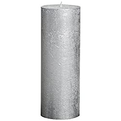 BOLSIUS Rustic Full Metallic Silver Candles – Se