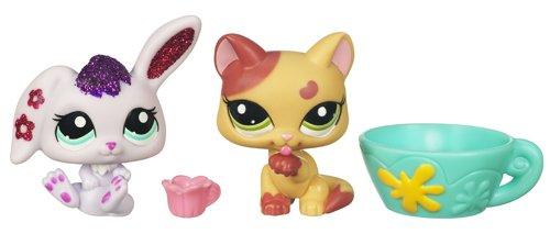 Littlest Pet Shop Hasbro Brillante + amiguita Conejo y gato - Mascota de juguete con purpurina con 1 amiguita: Amazon.es: Juguetes y juegos
