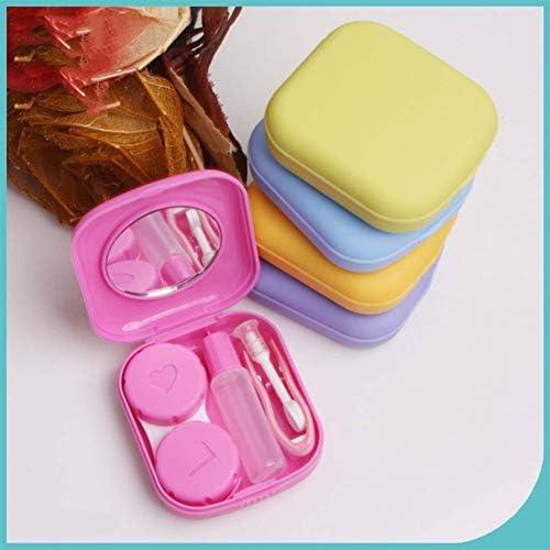 コンタクトレンズケース、ポケットミニアイレンズケース、トラベルボックスポータブルミラーボックスのキットコンタクトレンズトラベルケース storage (Color : Blue)