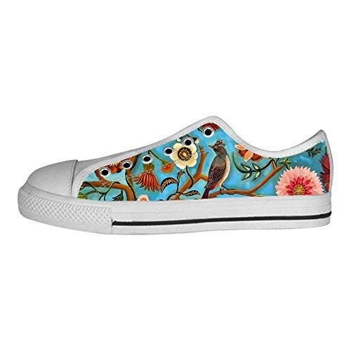 Shoes Custom Tela I Uccello Scarpe E In Delle Foresta Canvas Le Di Ginnastica Da Alto Men's Sopra Lacci rXxTXgwqY