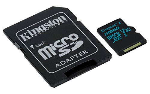 Kingston Canvas Go! 128GB microSDXC Class 10 microSD Memory Card UHS-I 90MB/s R Flash Memory Card with Adapter (SDCG2/128GB) ()