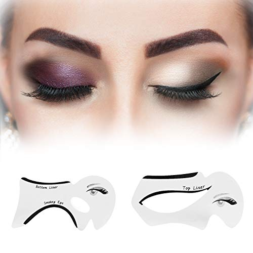 Eyeliner Stencil Top Bottom Liner Smokey & Cat Eyeshadow Template Makeup Tool