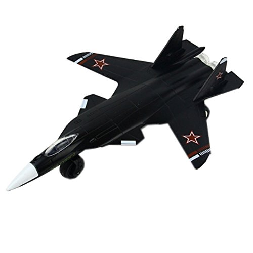 UiiQ Pull Back Action Su-47 Airplane Toys of Die Cast Metal Military with Attractive Lights and Plane Sounds for Kids, Boys or Girls by UiiQ