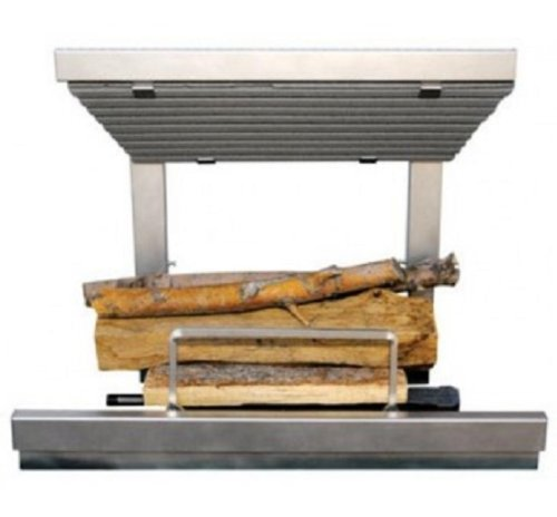 Earth's Flame Stainless Steel Wood-Burning Fireplace Grate/Insert, Model# EF36SS