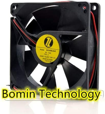 Bomin Technology for Nidec DK2409USNP 24V 0.22A 2 Wire 8CM 8025 high air Volume Cooling Fan