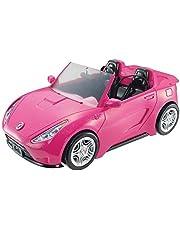 Barbie DVX59 - Barbie Bil Cabriolet, Glittrande Rosa med Autentisk Känsla, För Barn från 3 år