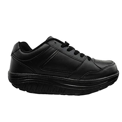 zum Aktiv Sohle Nero Wandern Ettes Schuhe für mit Herren Massageschuh abgerundeter Ww7Awr0qF