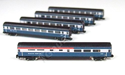 1:450 Scale BR Inter-City 125, Additional 5 Car Set (Intercity Train)