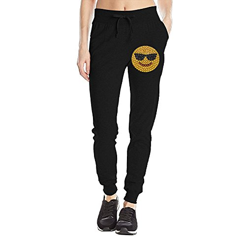 Nevertheless Sunglass Emoji Women's Lightweight Soft Jogger Pants Jersey Pocket - With Snapchat Emoji Sunglasses