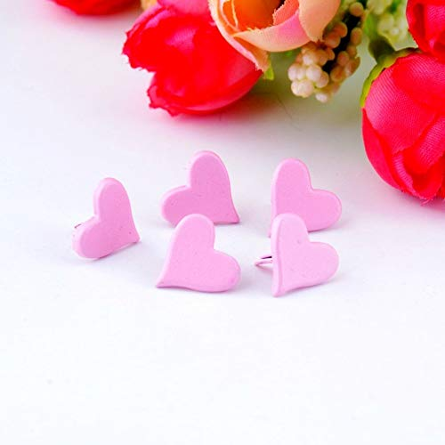 Garment Rivet - 50PCs Pink Pastel Heart Brads Scrapbooking Embellishment Holiday Decoration & Gift 11x11mm F0732