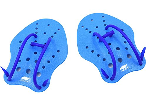 Hand Paddle (JIEJIA Swimming Paddles with Adjustable Strap for Kids (Age 5-15) Professional Swimmer Improve Swimming Speed Medium Size 6.7 5)