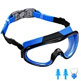 AEOSBIK Kids Swim Goggles, Wide Vision UV Protection Anti-Fog Swimming Goggles for Children Ages 3-15, Triathlon Equipment Swim Mask Glasses
