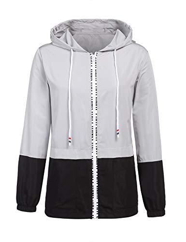(ZEGOLO Women's Raincoats Waterproof Packable Windbreaker Lightweight Active Outdoor Hooded Rain Jacket)