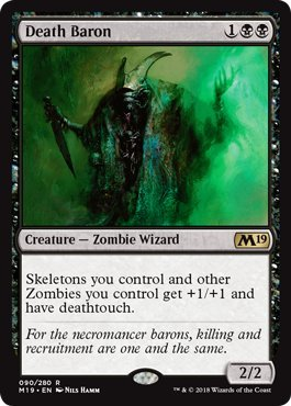 Magic: The Gathering - Death Baron - Foil - Core Set 2019