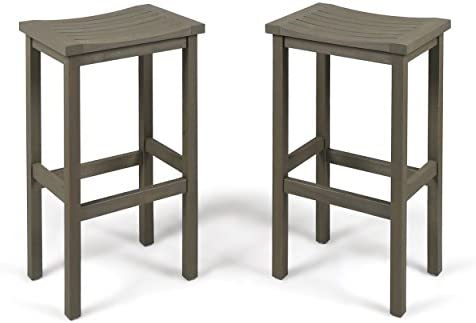 Best outdoor bar stool: Christopher Knight Home Caribbean Outdoor 30″ Acacia Wood Barstools