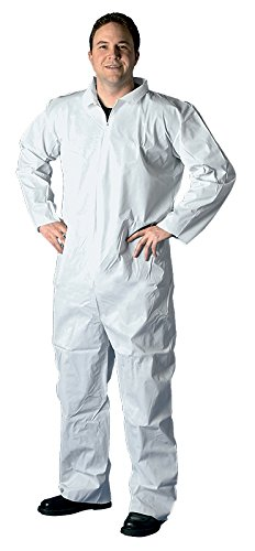 Buffalo Industries (68524) Non-Hooded SMS Disposable Coverall – Size XXL,White
