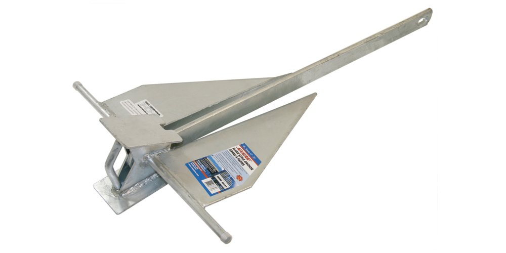 SeaSense #8 10lb, Penetrating Galvanized Fluke Style Anchor