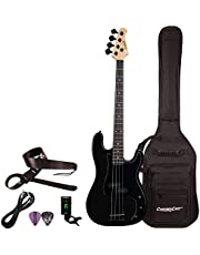 $199 » Sawtooth Electric Bass Guitar Satin Black With Gig Bag, Strap, Tuner, Cable & Picks ST-PB-STNBKB-KIT-1